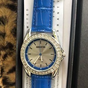 Blue Manhattan Croton Watch
